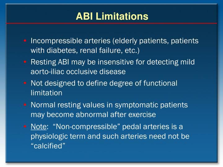 ABI Limitations