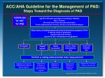 acc aha guideline for the management of pad steps toward the diagnosis of pad1