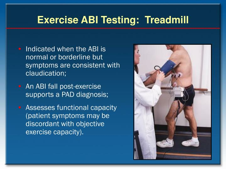 Exercise ABI Testing:  Treadmill