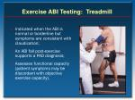 exercise abi testing treadmill