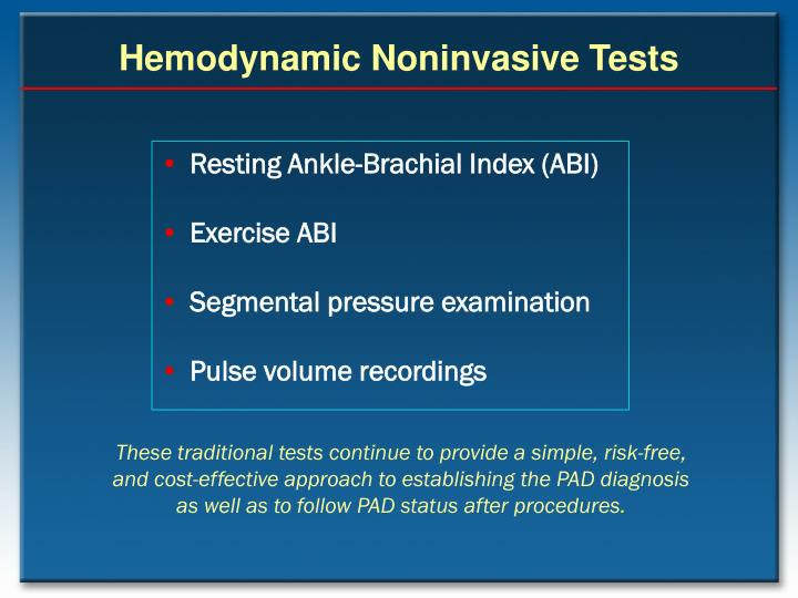 Hemodynamic Noninvasive Tests