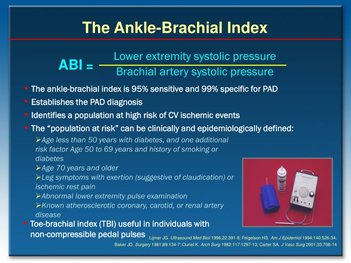 The Ankle-Brachial Index