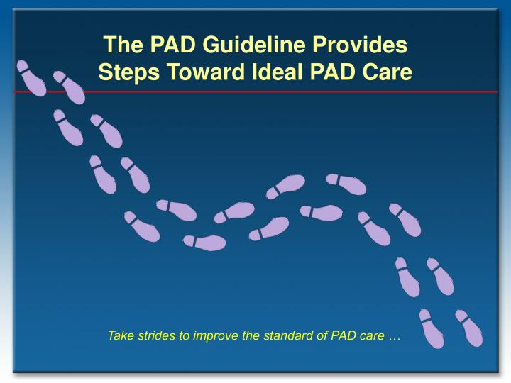 The PAD Guideline Provides