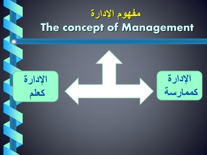 مفهوم الإدارة