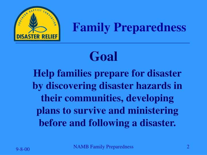 Family Preparedness