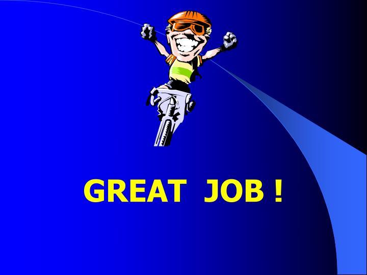 GREAT  JOB !