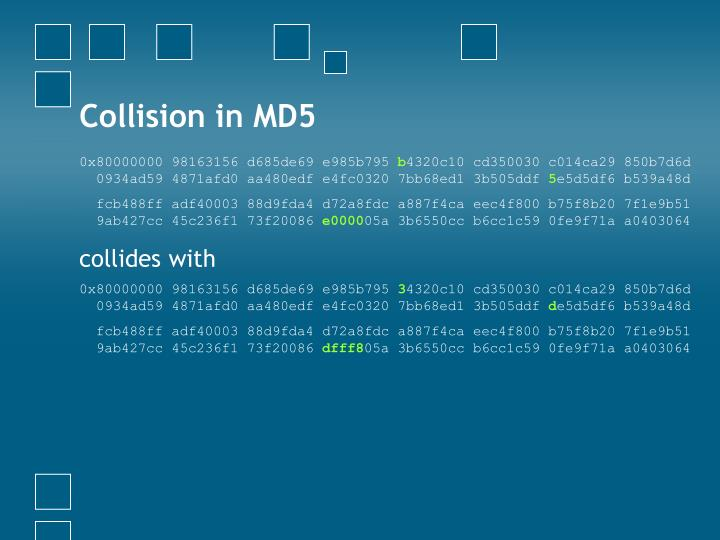 Collision in MD5