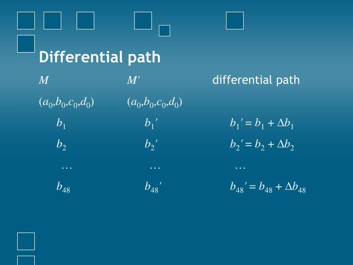 Differential path