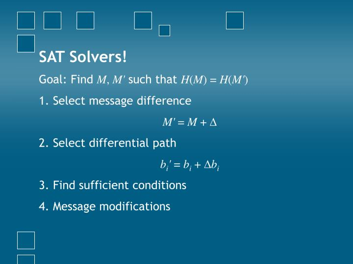 SAT Solvers!