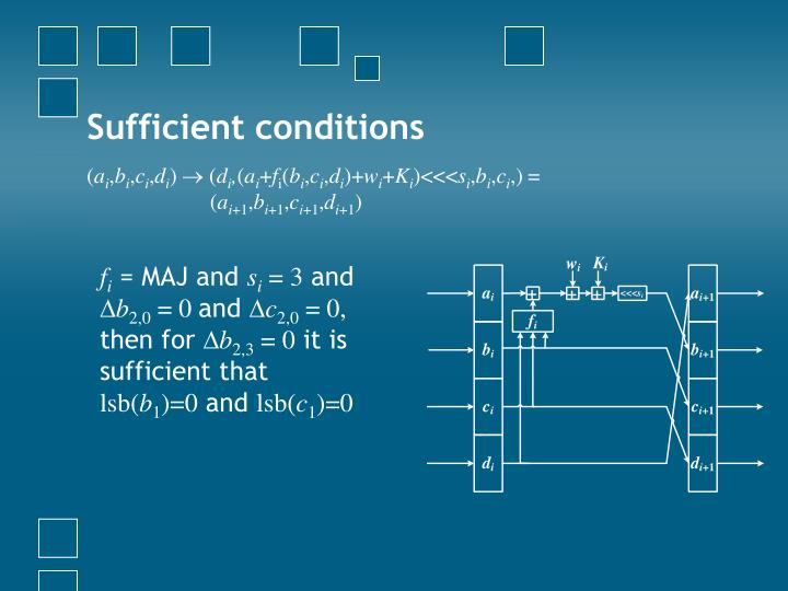 Sufficient conditions