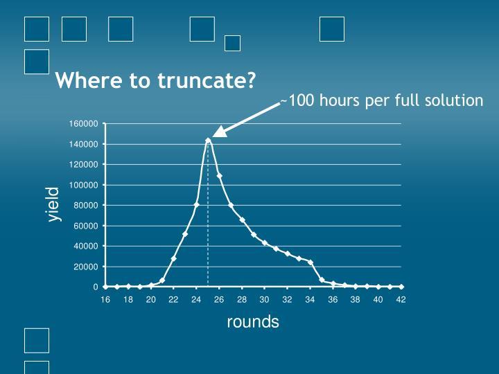 Where to truncate?