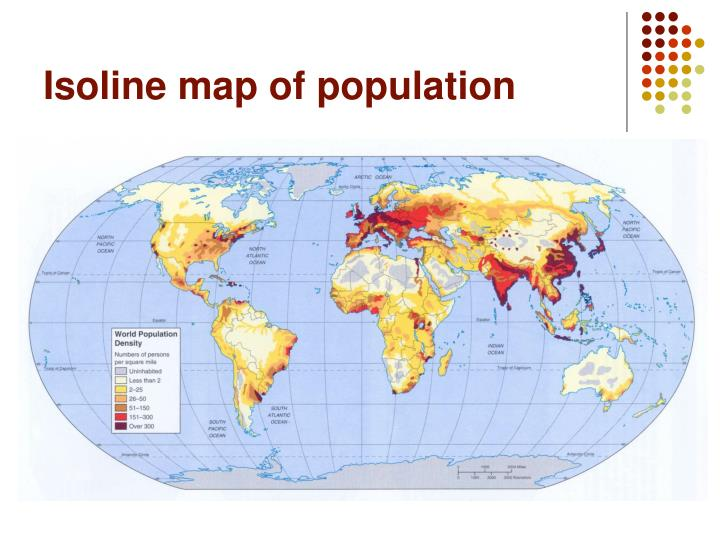 Isoline map of population