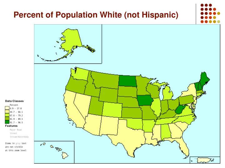 Percent of Population White (not Hispanic)