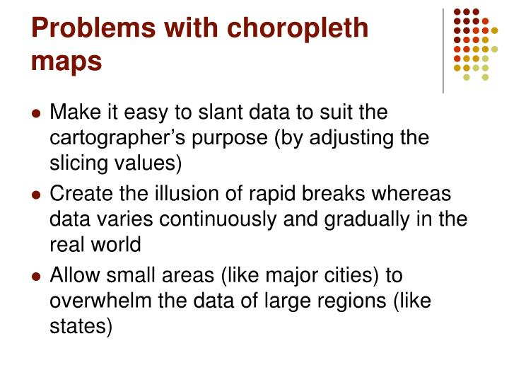 Problems with choropleth maps