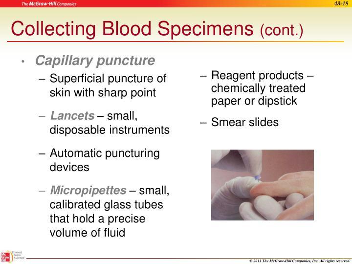 Capillary puncture