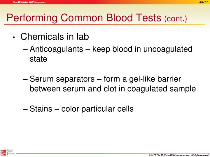Performing Common Blood Tests