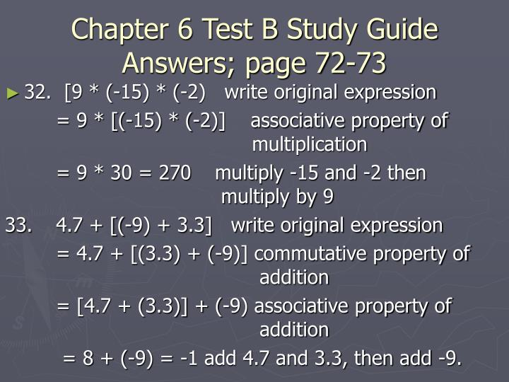 Chapter 6 test b study guide answers page 72 731