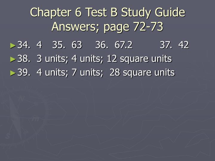 Chapter 6 test b study guide answers page 72 732