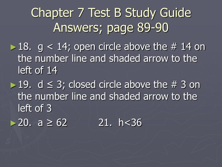 Chapter 7 Test B Study Guide Answers; page 89-90