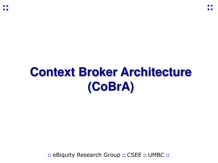 Context Broker Architecture