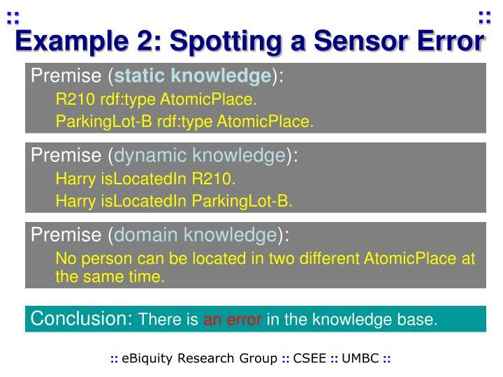 Example 2: Spotting a Sensor Error