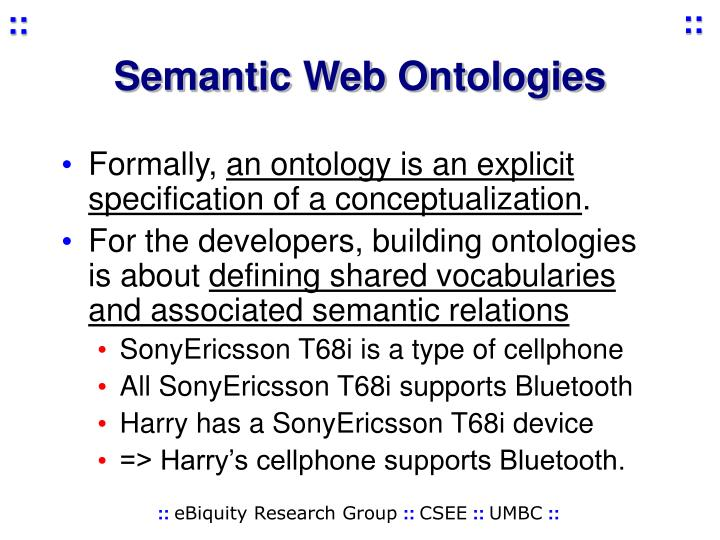 Semantic Web Ontologies