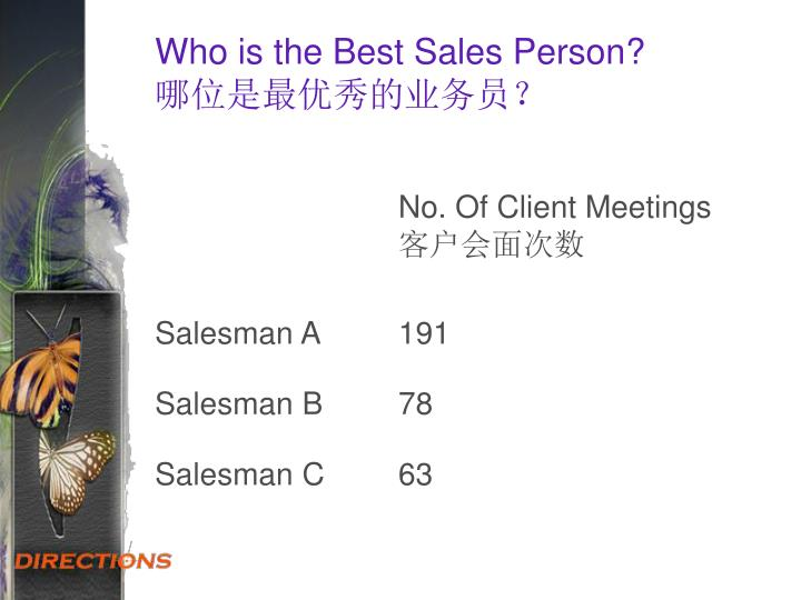 Who is the Best Sales Person?