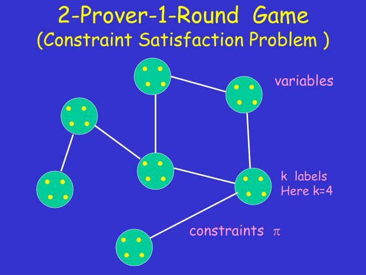 2-Prover-1-Round  Game