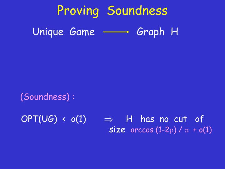 Proving  Soundness