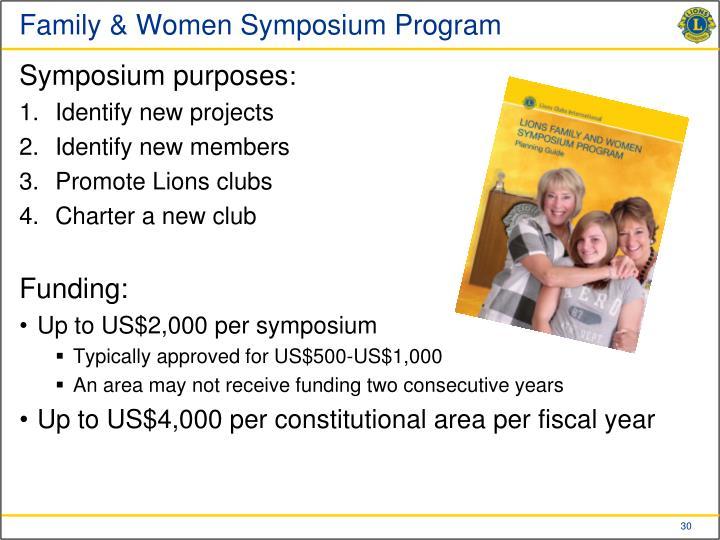 Family & Women Symposium Program