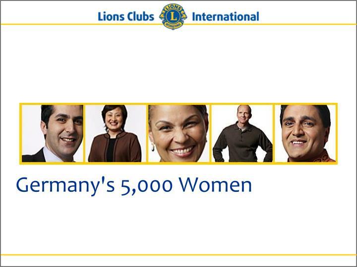 Germany's 5,000 Women