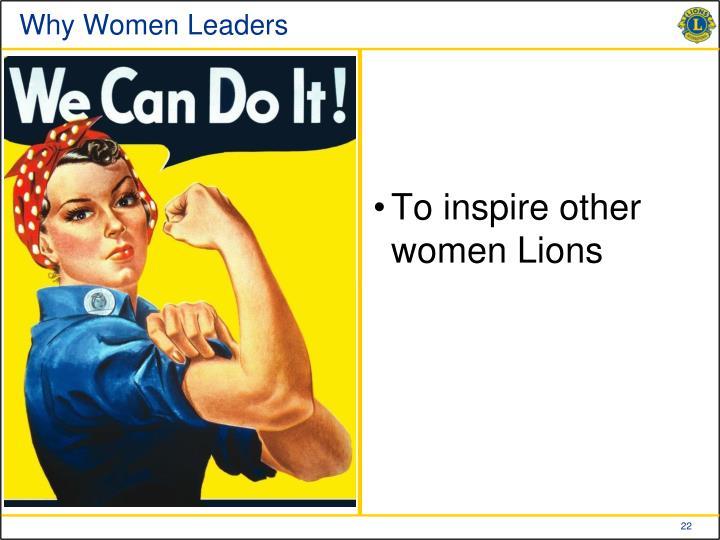 Why Women Leaders