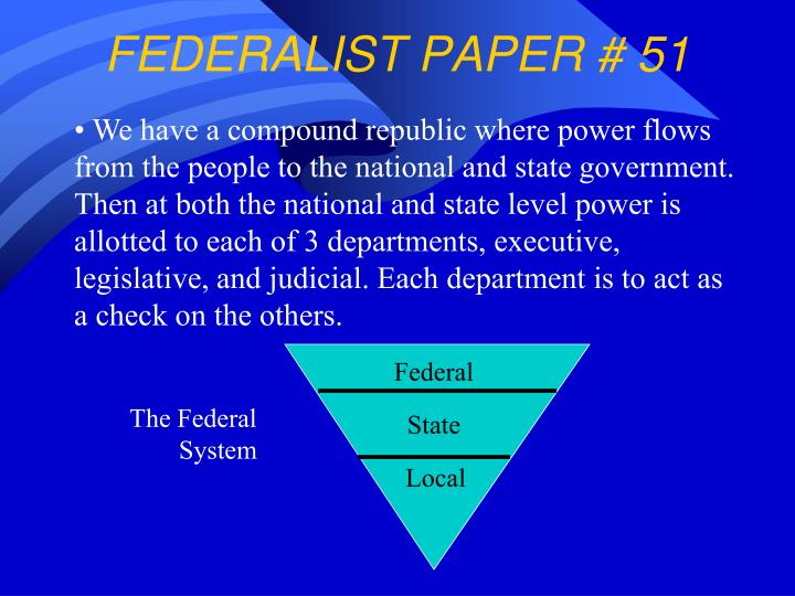 Federalist papers 51 summary and analysis