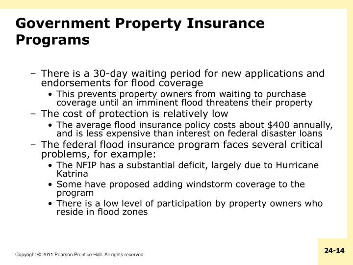 Government Property Insurance Programs