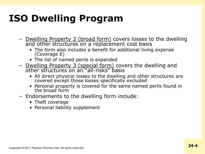 ISO Dwelling Program