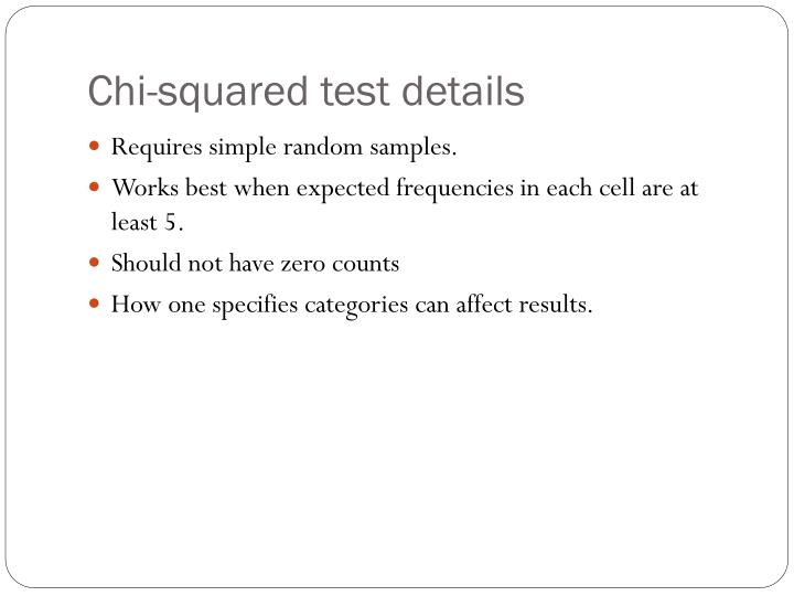 Chi-squared test details