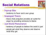 social relations4