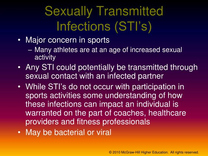 Sexually Transmitted Infections (STI's)