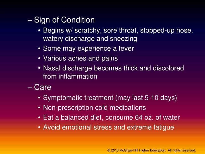 Sign of Condition
