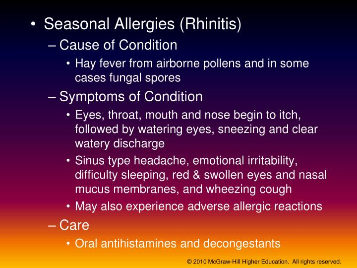 Seasonal Allergies (Rhinitis)