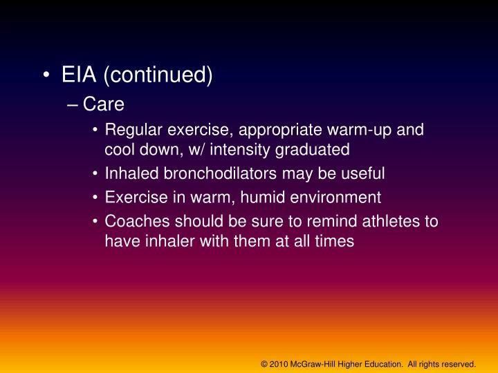 EIA (continued)