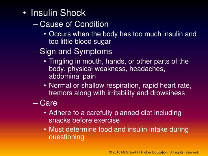 Insulin Shock