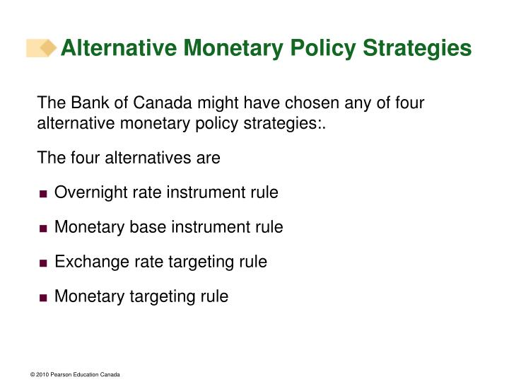 Alternative Monetary Policy Strategies