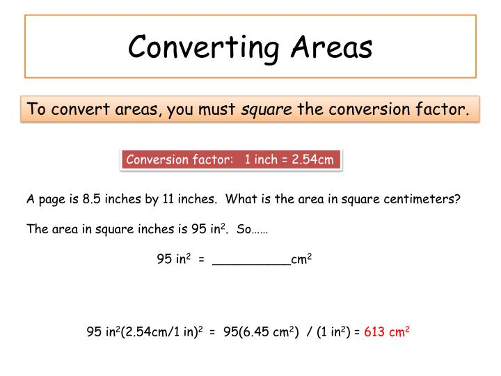 Converting Areas