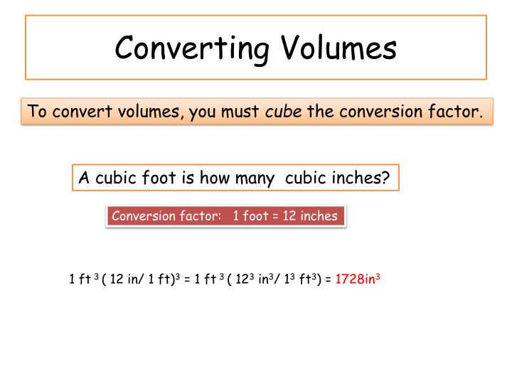 Converting Volumes