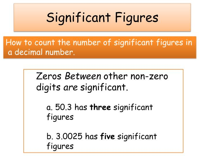 How to count the number of significant figures in
