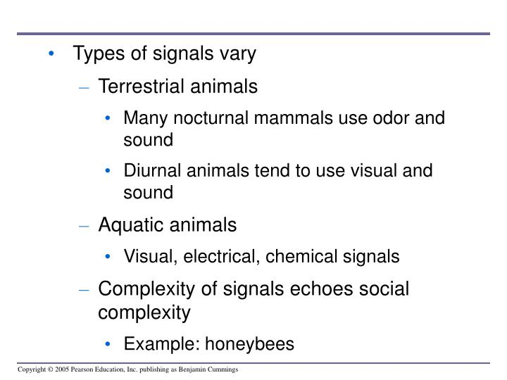 Types of signals vary