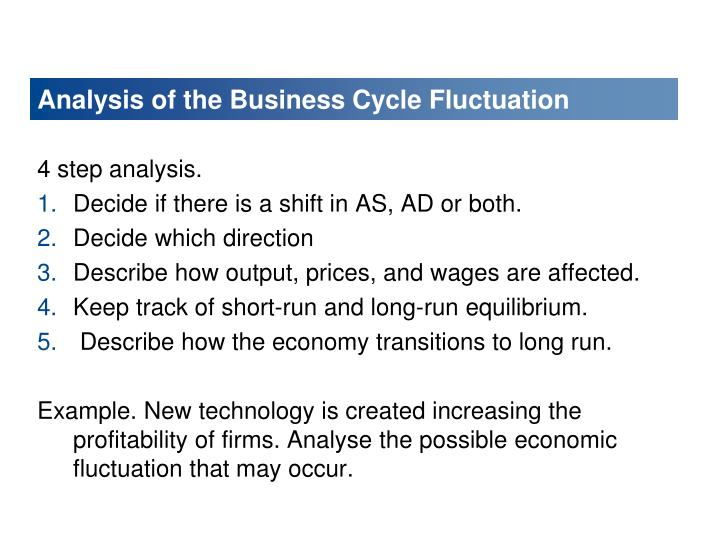 Analysis of the Business Cycle Fluctuation