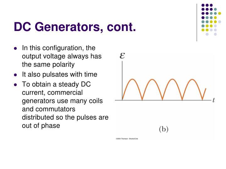DC Generators, cont.