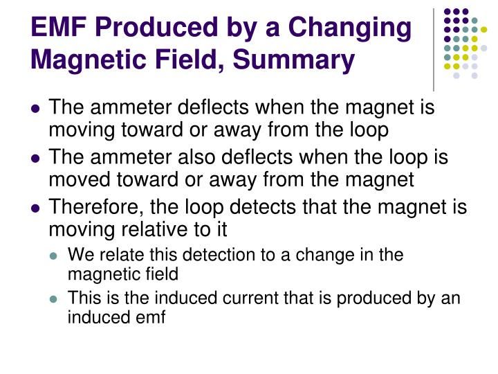 EMF Produced by a Changing Magnetic Field, Summary